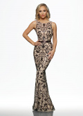 80091 Beaded Dresses By Ashdon